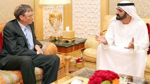 Shaikh Mohammed receives Bill Gates