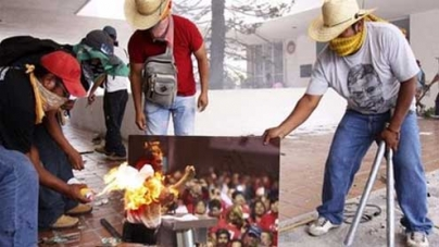 Teachers rampage against reforms in Guerrero state, Mexico
