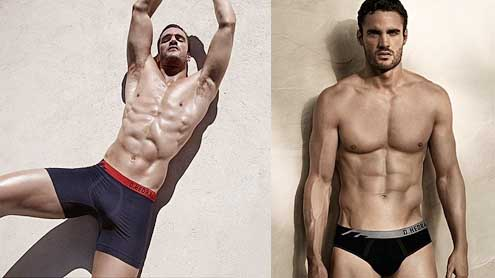 Thom Evans shows off his incredible abs in new D.Hedral underwear shoot