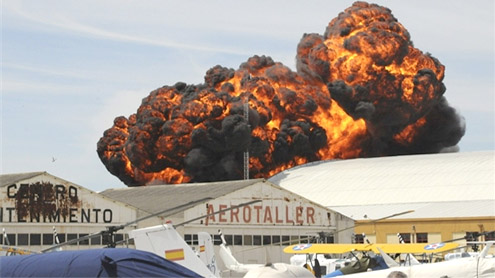 Aircraft Crashes in a Fireball at Spanish Air Show