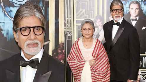 Amitabh Bachchan & Jaya Bhaduri at red carpet of The Great Gatsby premiere