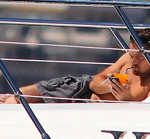DiCaprio surrounds himself with yet another bevvy of scantily clad women aboard a luxury yacht