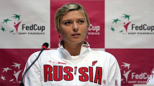 Maria Sharapova shows off athletic physique