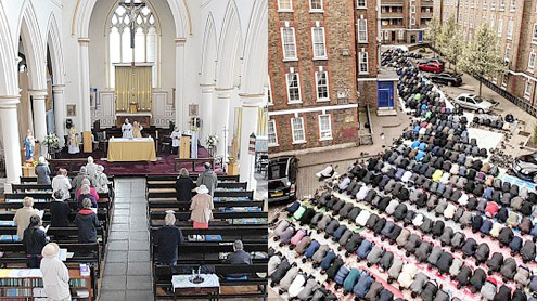 One country, two religions and three very telling pictures