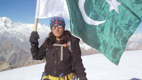 President greets Samina Baig for becoming first Pakistani women to scale Mount Everest