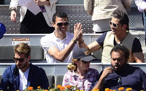 Real Madrids Cristiano Ronaldo and Back Row