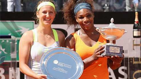 Serena Williams beats Victoria Azarenka Rome Masters