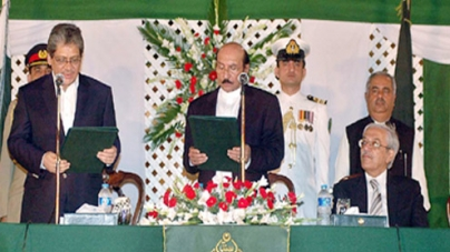 Syed Qaim Ali Shah takes oath as CM Sindh