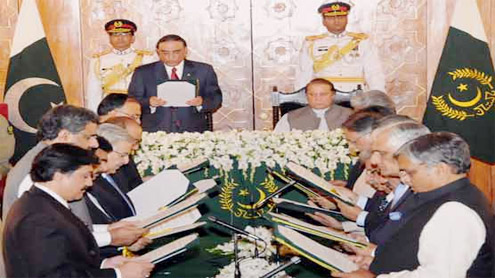 25-member federal cabinet takes oath
