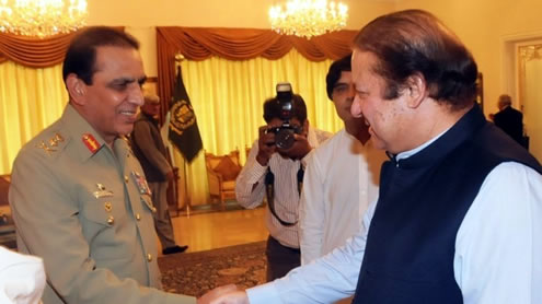 Army Chiefs Meet PM Nawaz Sharif