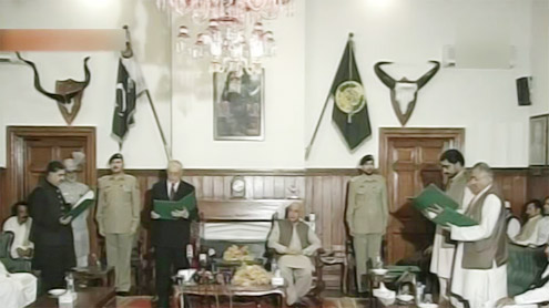 Balochistan cabinet administered oath