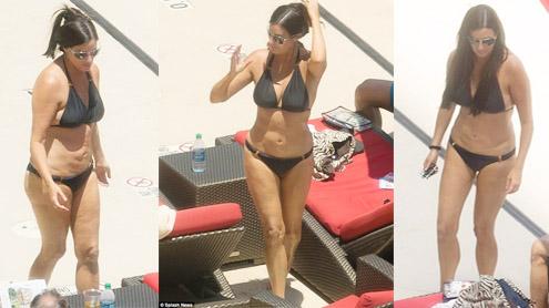 Millionaire Matchmaker Patti Stanger takes sun bath in black bikini