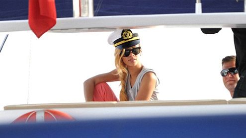 Rihanna tries out the sexy sailor poses in hat aboard luxury yacht in Istanbul