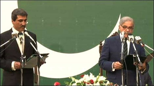 Shahbaz Sharif takes oath as CM Punjab