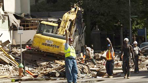 Six dead in Philadelphia building collapse, 14 injured