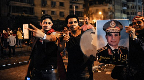 Egyptian army arrest deposed president Morsi and issue warrants for THREE HUNDRED