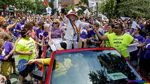 Gay pride parades draw huge crowds after marriage rulings