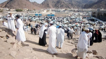 Historic Uhud turned into a market place