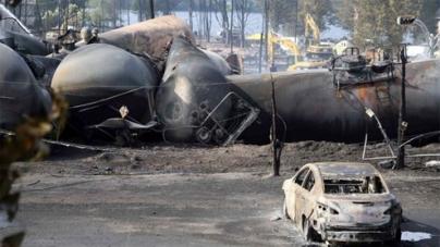 Lac-Megantic train blast: PM Harper visits 'war zone'
