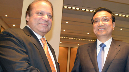 PM Sharif meets Chinese counterpart
