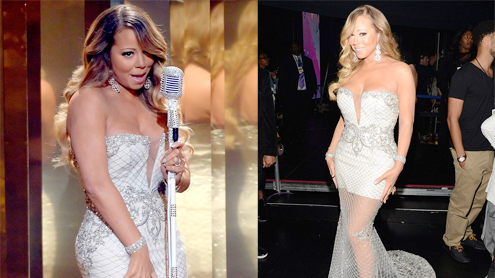 Slimmed down Mariah Carey accused of lip-synching during BET Awards