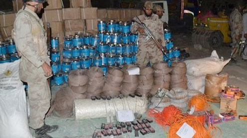 100 tonnes of bomb-making chemicals seized