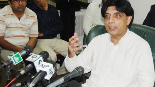 Govt proposes targeted operation in Karachi: Ch Nisar