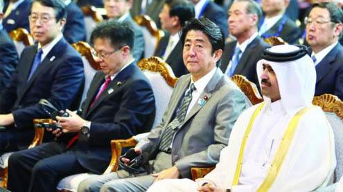 Japan PM visits Qatar