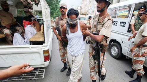 Rangers arrest nine suspects