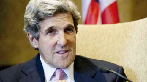 US Secretary of State John Kerry arrives on three-day visit