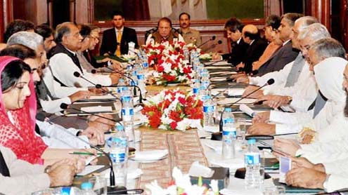 Federal Cabinet for strict, across the board targeted action in Karachi