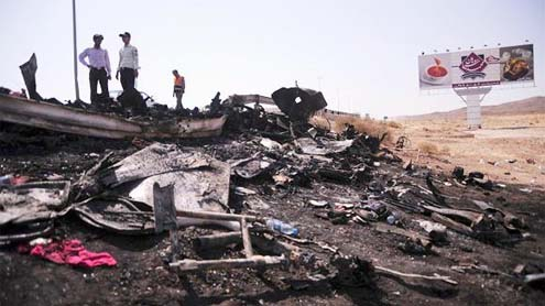 Iran bus collision kills 44, injures 39