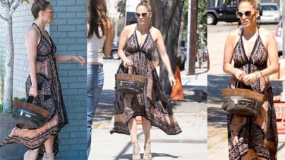 Jennifer Lopez wears same dress for two days on recording with Robin Thicke