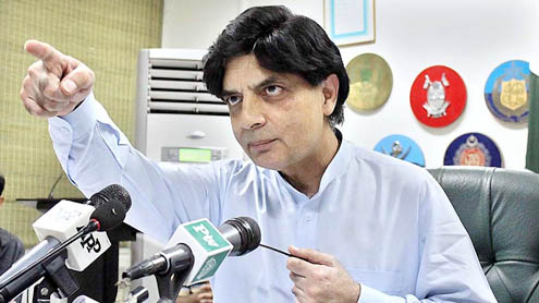 Framework ready for talks with Taliban: Ch Nisar