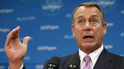 Boehner says he has no Idea when Government Shutdown will End