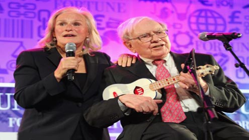 Warren Buffett Shows Off his Ukelele Skills Backstage At The Today Show