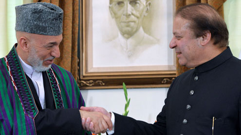 Nawaz Sharif  President Hamid Karzai meeting