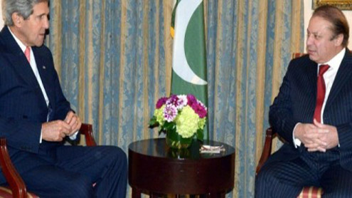 Kerry, Nawaz discuss Pak-US tension on phone