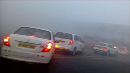4 killed in road accident, as dense fog engulfs Delhi
