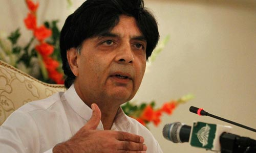 Nisar Wants Poll Rigging Issue Resolved