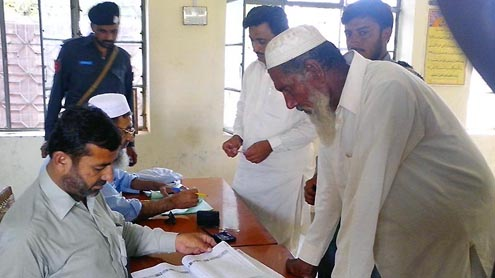 Polling Balochistan local government elections