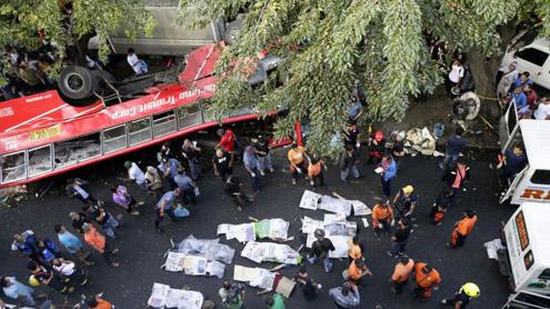 Bus plunge kills 13 in Philippines