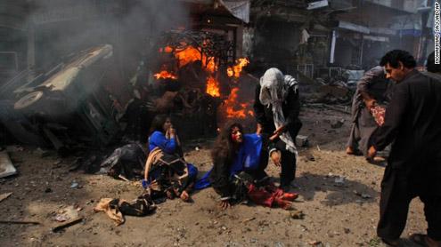 Peshawar blast boom