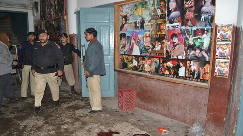 Three Explosions hit Peshawar Cinema Eleven Killed