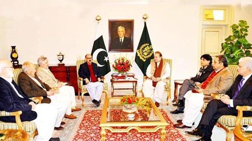 Govt TTP negotiators Meet PM in bid to Further Peace talks