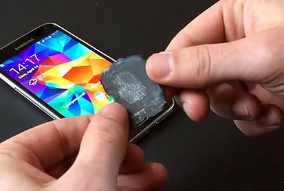 Galaxy S5 fingerprint Sensor Hacked