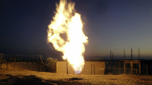Gas Pipeline blown up in Khairpur