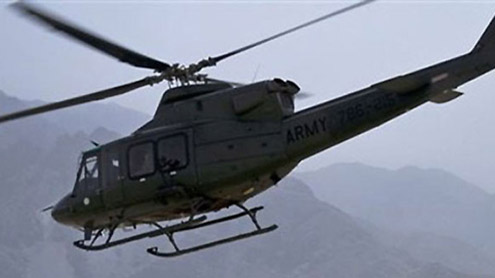 Helicopter attacked militant