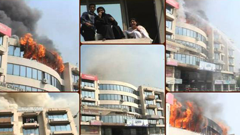 LAHORE: Fire engulfs Commercial Plaza