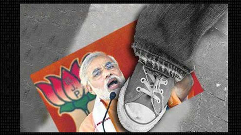 Pakistani Hackers deface Modi's Campaign Website